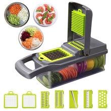 Обновленная многофункциональная овощерезка, кухонные гаджеты, пресс для чеснока, стальное лезвие, картофелечистка, терка для моркови, кухонные аксессуары