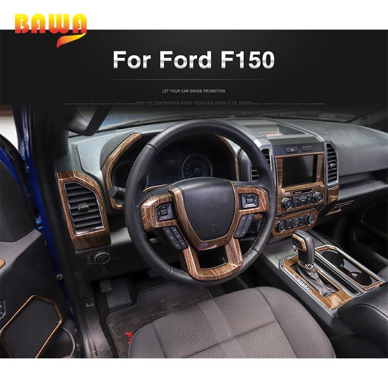 Moulures intérieures BAWA pour Ford F150 2015 + autocollants de décoration intérieure en Fiber de carbone - 2