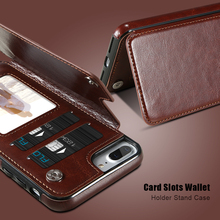 Retro PU Leather with Card Holders Cases Cover For iPhone