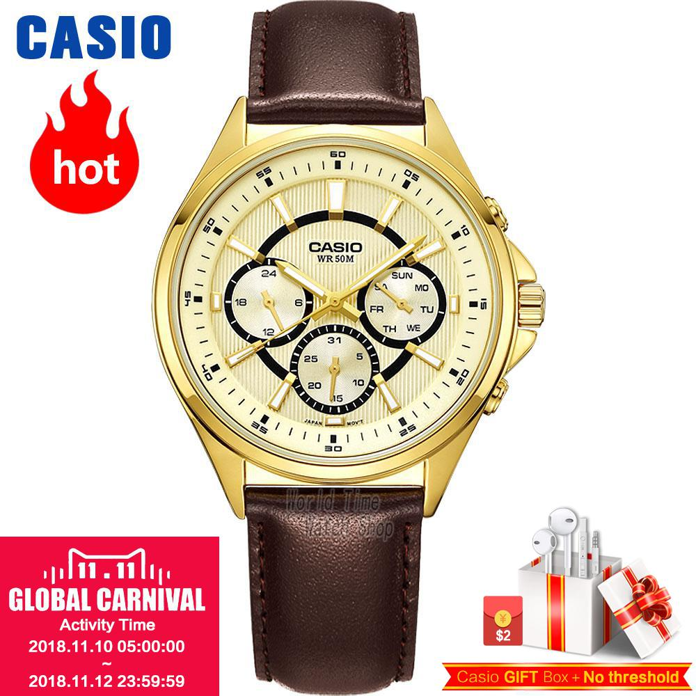 Casio WATCH fashion simple business male watch MTP-E303D-7A MTP-E303L-7A MTP-E303L-1A MTP-E303GL-9A MTP-E303SG-1A ботинки el tempo ботинки