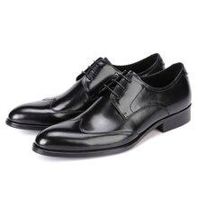 Модные с острым носком wine красный/черный обувь в деловом стиле мужские Dress Shoes натуральная кожа оксфорды мужские свадебные туфли