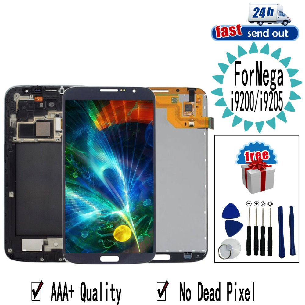6.3'' <font><b>i9200</b></font> LCD For <font><b>SAMSUNG</b></font> Galaxy Mega <font><b>i9200</b></font> i9205 LCD Display Touch Screen Tested Digitizer Assembly For Galaxy Mega <font><b>i9200</b></font> image