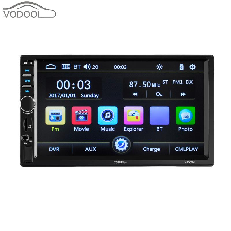 7 LCD 2 Din Touch Screen Bluetooth Car Multimedia MP3 MP5 Player FM Radio Autoradio TF Aux Input USB w/ Charger Remote Control steering wheel control car radio mp5 player fm usb tf 1 din remote control 12v stereo 7 inch car radio aux touch screen