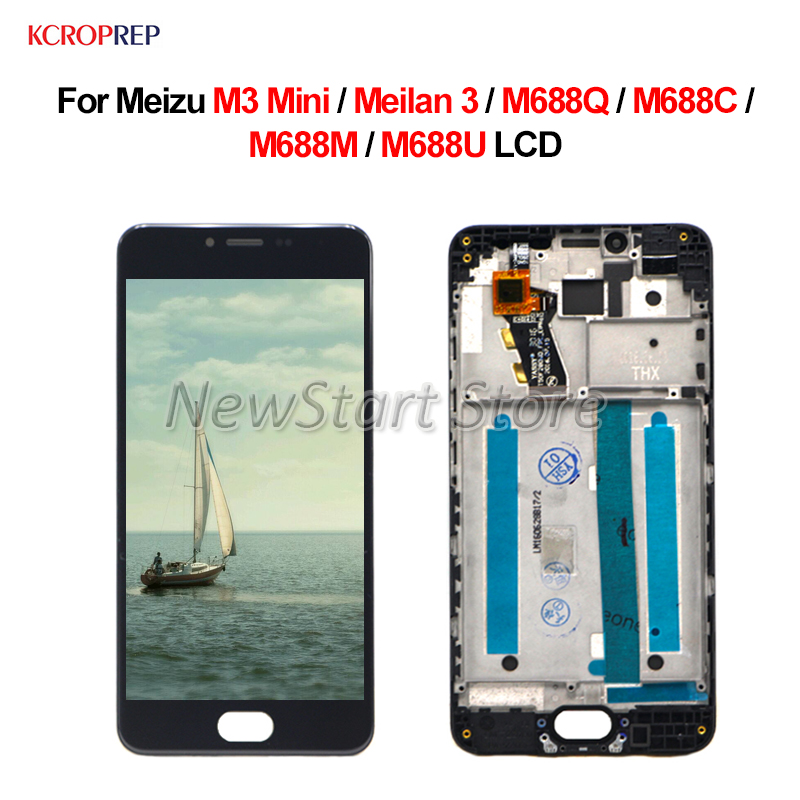 For <font><b>Meizu</b></font> <font><b>M3</b></font> <font><b>Mini</b></font> Meilan 3 LCD <font><b>Display</b></font> Touch Screen Digitizer Assembly 5.0