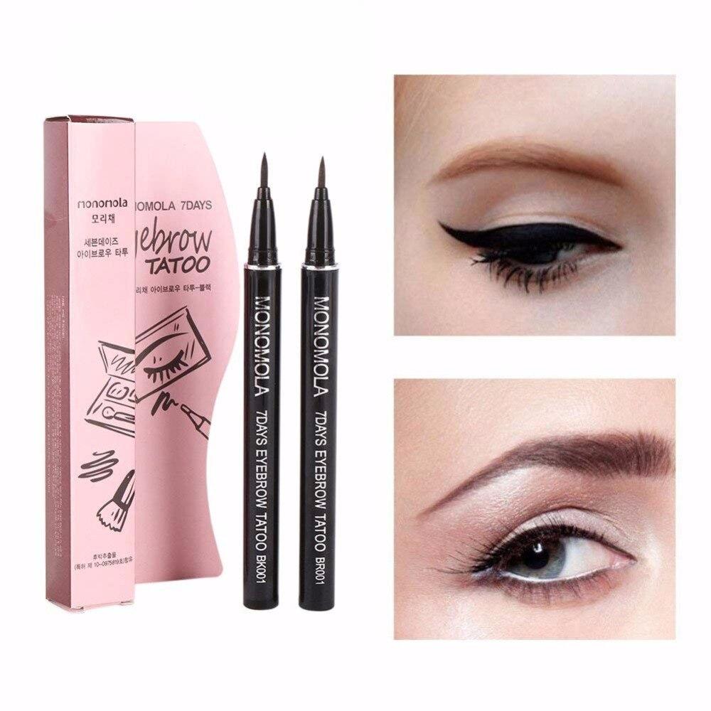 1Pc  Eyebrow Outline Painting Eye Brow Tattoo Pen Keep 7 Days Waterproof Sketch Makeup Ink Liquid Eyebrow Enhancer Pen TSLM2