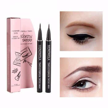 1Pc  Eyebrow Outline Painting Eye brow Tattoo Pen Keep 7 days Waterproof Sketch Makeup Ink Liquid Eyebrow Enhancer Pen TSLM2
