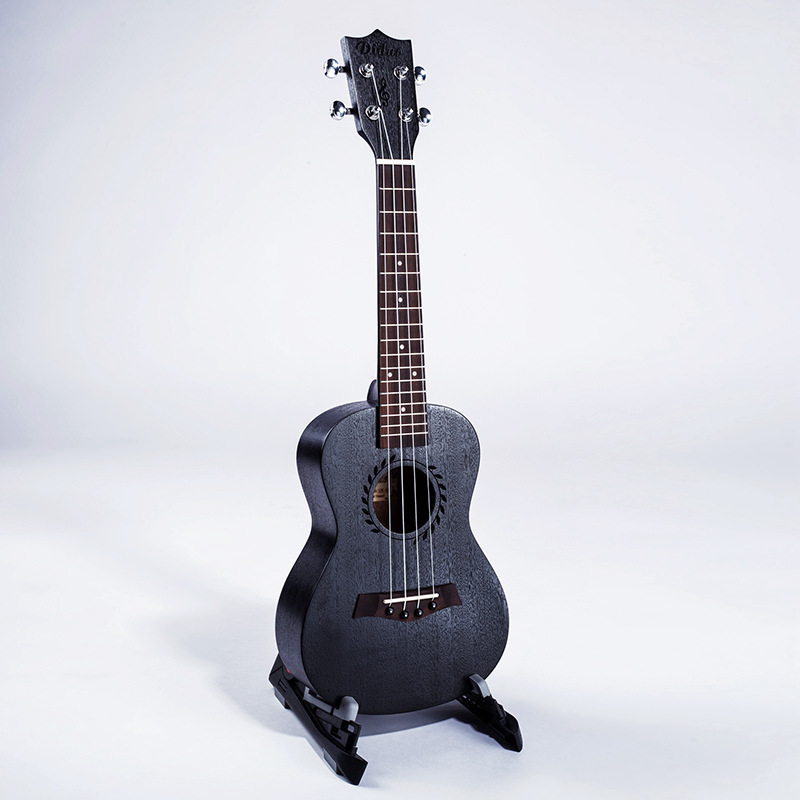 Concert Ukulele 23 Inch Electric Guitar 4 Strings Ukelele Guitarra Mahogany Uke Black Handcraft Wood Mini цены
