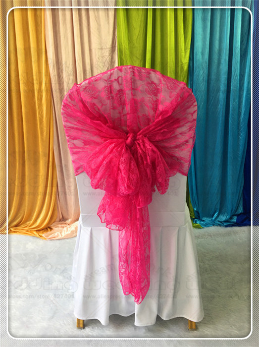 50pcs Lace Chair Hoods Caps Sashes Bow Table Runner Tablecloth Napkins Fabric Skirt Overlay Linen Party Wedding Decorations