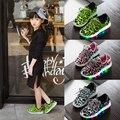 2016 de Los Nuevos Niños Zapatos Para Niñas niños Zapatillas de Deporte Respirables Zapatillas kid zapatos de Niño/Niño Grande luz tamaño 26-30