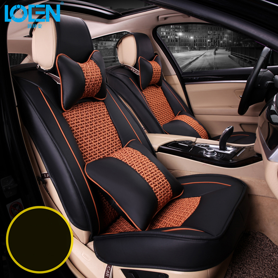 Free Shipping Luxury Leather Car Seat Cover Universal Sport Covers Whole Surrounded