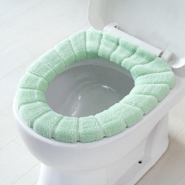 1 PCS Coperchio Wc Sedile Coperchio Pad Bagno Closestool Protector Copertura Igienica Accessori Per il Bagno Set Tavolette copriwater WC Zerbino