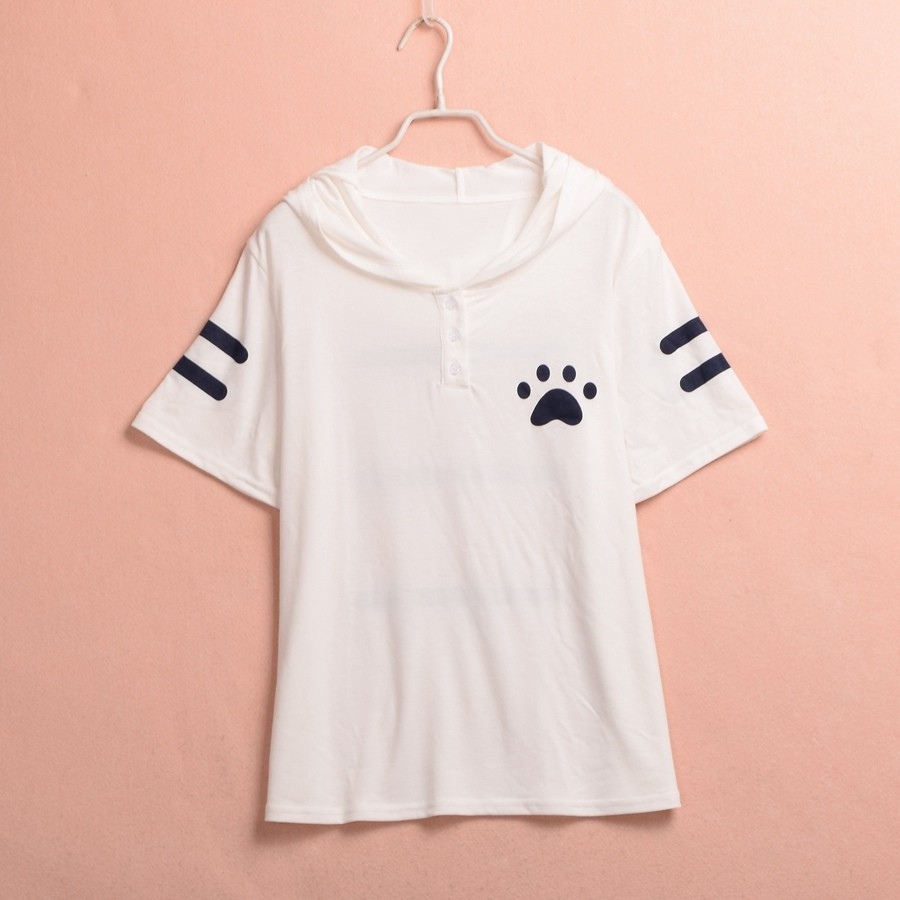 Cat Pattern Ears Hooded Shirt (6)