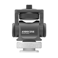 ANDYCINE мини горячая обувь из алюминиевого сплава установки Улучшенный 360 градусов База вращения поворотный с винтом инструменты для крепления 19Apr11