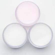 3 цвета акриловый порошок кристалл дизайн ногтей полимерные советы строитель розовый прозрачный белый акриловый порошок маникюрные Советы Инструменты SJF3001