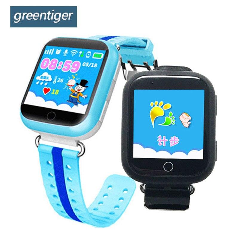 Greentiger GPS Montre Smart Watch Q750 Q100 Wifi SOS Call Lieu bébé Enfants montre Écran Tactile Dispositif Tracker pour Kid Safe VS Q90