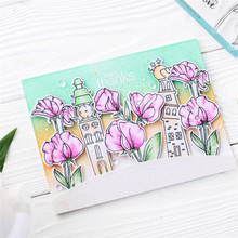 YaMinSanNiO Flower Stamp with Cutting Die for DIY Scrapbooking Leaves Metal Dies Clear Card Making Crafts New 2019