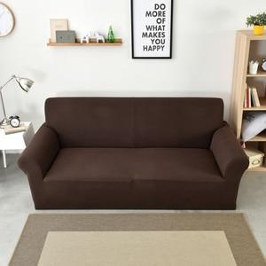 Image 2 - Polar Fleece Sofa Cover Dikke Universele Elastische Hoes Maïskorrels Textuur Couch Cover Furniture Covers 1/2/3/4 Zits Bank