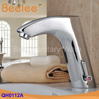 Modern Free Shipping brass single lever chrome basin automatic faucet mixer tap (QH0112A)