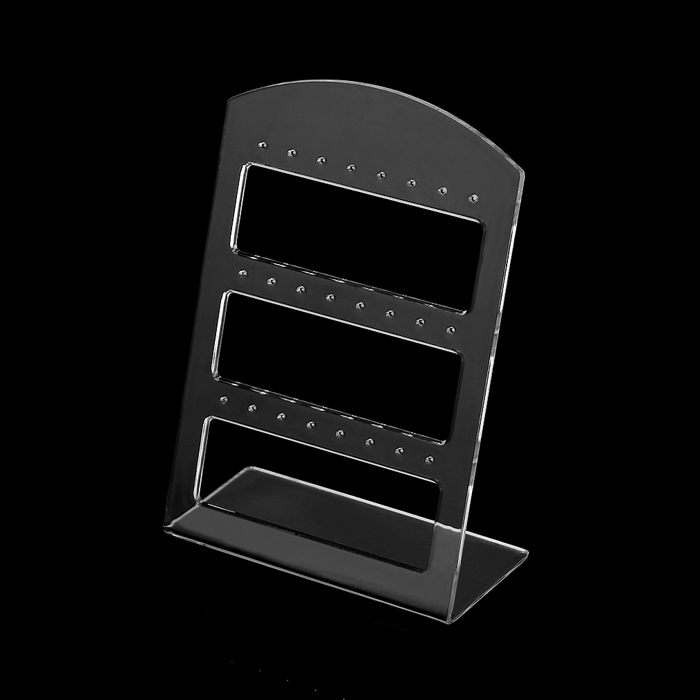 New 24 Holes Stud Earrings Display Showing Stand Rack Jewelry Packaging Plastic Show Organizer Storage Holder