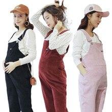 cc385ec79a364 Women Pregnant Maternity Casual Cotton Trouser Suspender Overalls Bib  Trouser Spring Autumn Maternity Clothing Pants Jumpsuit