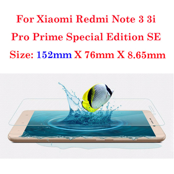 9H 0.26mm 2.5D Anti-Explosion Screen Protector Tempered Glass For Xiaomi Redmi Note 3 Pro Prime Special Edition SE Cover 152mm digital clock