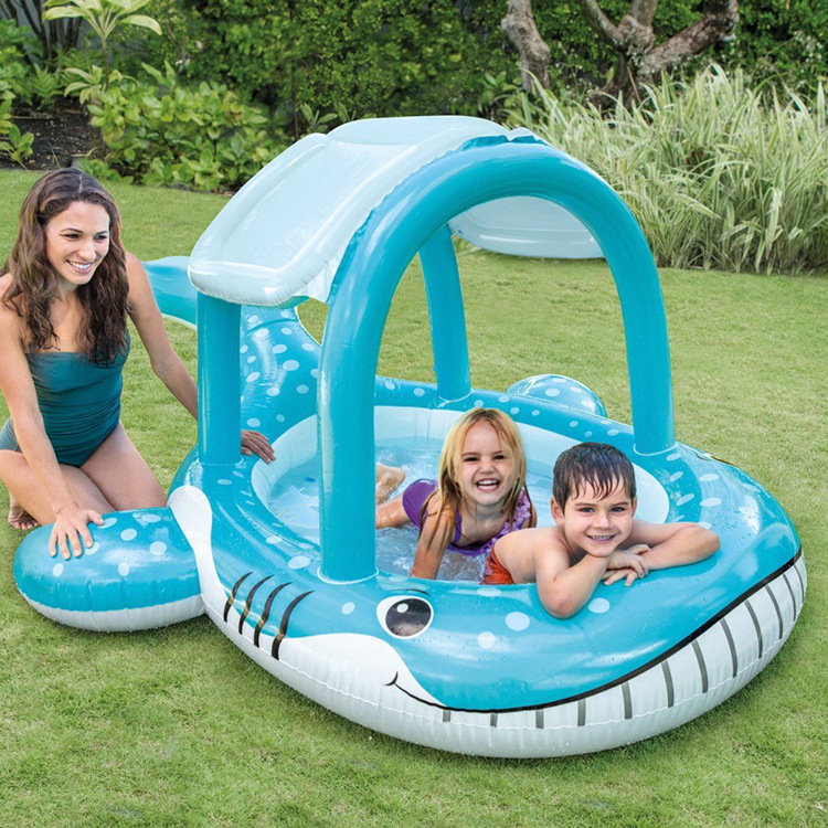 INTEX nouvelle baleine ombre piscine gonflable piscine jouer piscine bébé océan balle piscine 57125