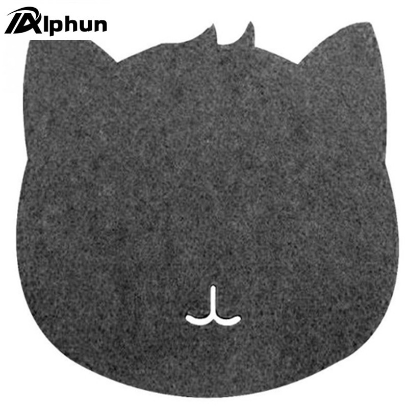 Optical Trackball Pc Thicken Mouse Pad Felt Cloth 220*220*3mm Universal Cute Cat Mousepad Mat For Laptop Computer Tablet Pc Computer & Office