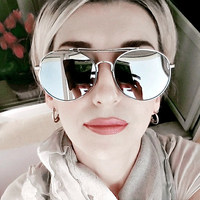 Sweet CITRUS Oversized Aviator Sunglasses Women Men Luxury Brand Designer Eyewear Sun Glasses For Female Lunette