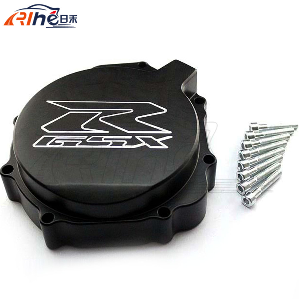 new motorcycle accessories aluminum engine stator cover motorbike engine stator cover black For SUZUKI GSXR600 750 2004 2005 motorcycle accessories engine decorative cover motorbike engine cover for harley davidson 2006 sportster 1200 roadster xl1200r