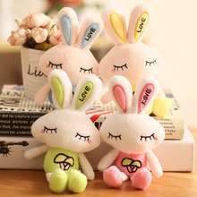 Plush Toy Rabbit Keychain Pendant Creative Girl Heart Mushroom Cute Doll Bunny Mobile Phone Bag Gift