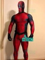 3D Printing NEW Spandex Deadpool Costume Custom Made 2019 Halloween Superhero Movie Bodysuit Deadpool Costume Only Suit