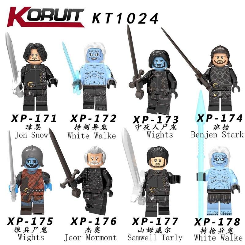 80 piezas KT1024 Juego de tronos Jon Snow Lord Varys Khai Drogo Ygritte bloques de construcción Juguetes de regalo de Navidad-in Bloques from Juguetes y pasatiempos    1