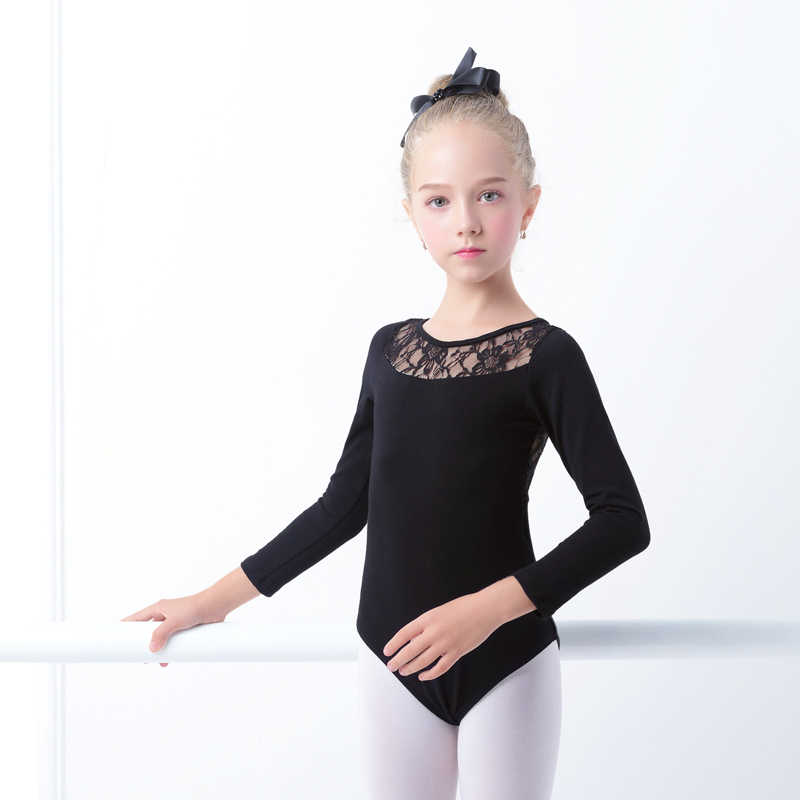 ac9b0f8e8e9e Detail Feedback Questions about Black Lace Ballet Leotards Girls ...
