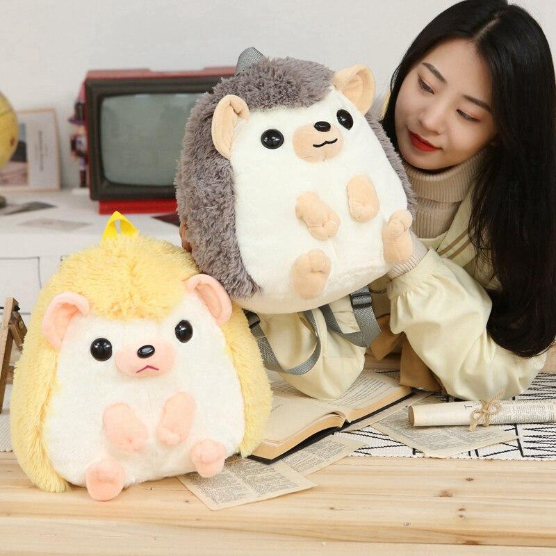 Kids Animal Stuffed Toys Hedgehog Form For Girls And Boys Fluffy Soft Plush Gift
