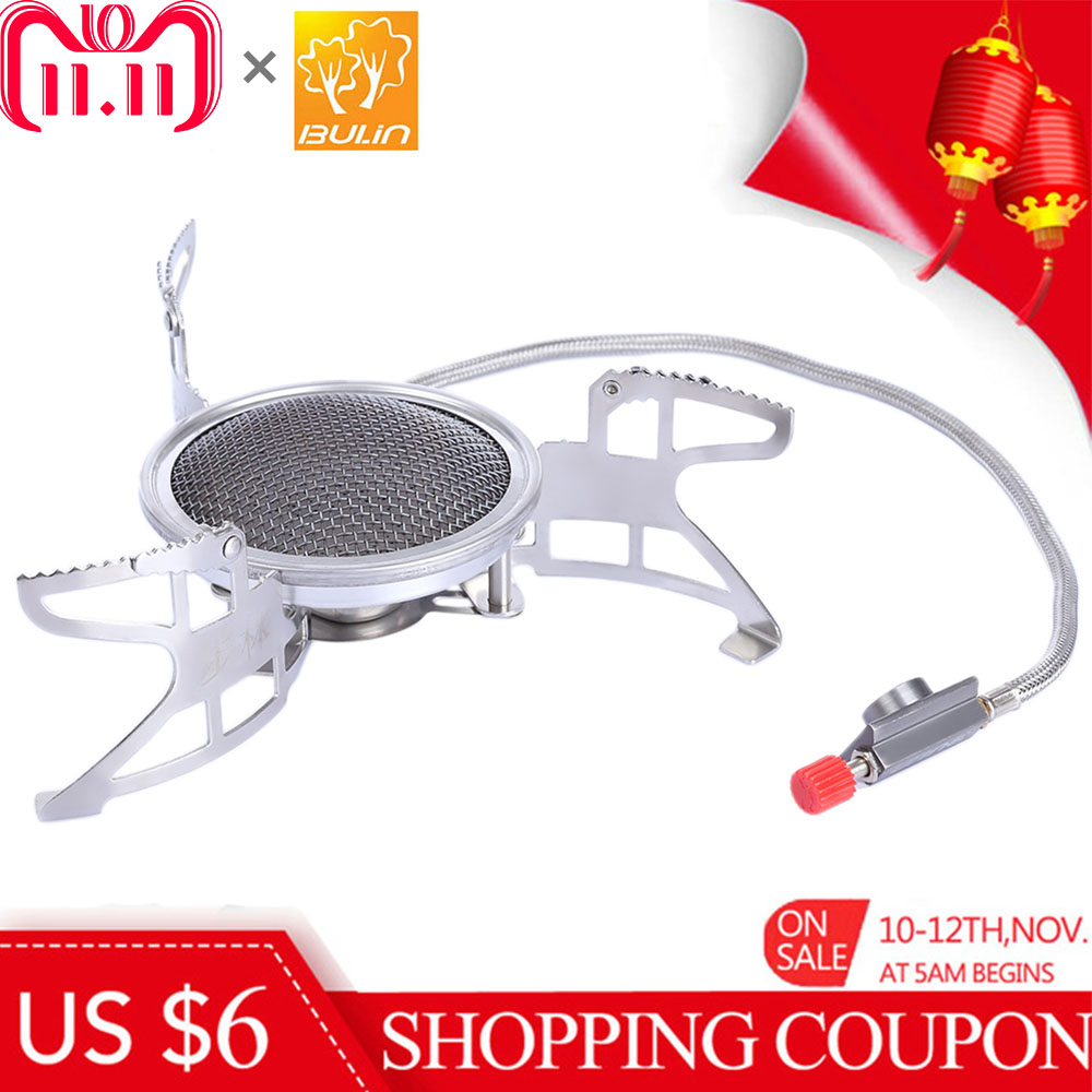 BULIN BL100 - B15 Mini Split Gas Stove Outdoor Camping Picnic Foldable Cooking Camping Burners Gas Stove Portable BBQ Gear bulin bl100 b15 mini portable outdoor gas stove foldable camping split gas burner camping cooking