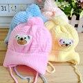 Otoño e invierno sombrero del bebé sombrero del bebé línea de neumáticos casquillo recién nacido sombrero del bolsillo del oso super suave polar bebé sombrero