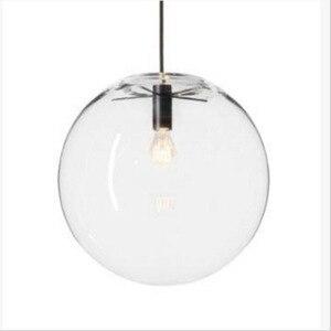 Image 2 - Luminaire suspendu dintérieur à une tête de boule de verre transparent, design moderne, luminaire dintérieur, luminaire décoratif, idéal pour un salon, une salle à manger ou une chambre à coucher, ac 110/220/230V