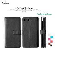 For Sony Xperia M5 Flip Leather Case E5603 E5606 E5653 Stand Wallet Case For Sony M5