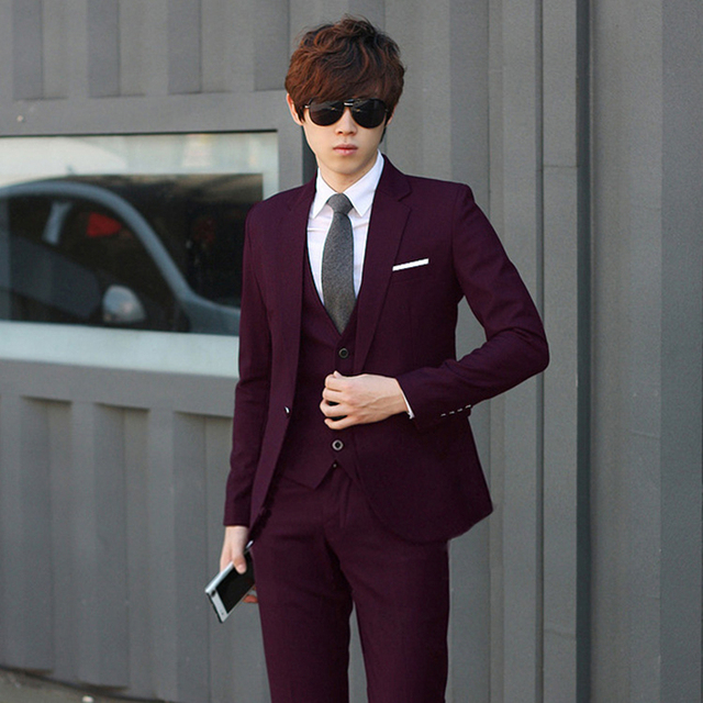 High Quality !!!^ New Men's Clothing Suits & Blazers for Men Skinny Suits Two Pieces Set Party Casual Cloth GM2252