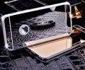 Hot! Espelho de luxo Galvanoplastia Casos Macio TPU Claro Para o iphone 6/6 S 4.7 polegada/6 Plus 5.5 polegada 5 5S Tampa Traseira Bags