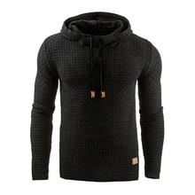 Hoodies Men 2019 Brand Male Long Sleeve Solid Color Hooded Sweatshirt Mens Hoodie Tracksuit Sweat Coat Sportswear 4XL