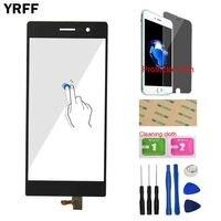 YRFF 5,0 zoll Mobile Frontglas Für HuaWei P7 P 7 Touch Screen Digitizer-bereich Glas-sensor Werkzeuge + Schutzfolie klebstoff