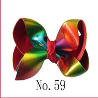 100 BLESSING Good Girl 4.5 Inch Spangle ABC Hair Bow Clip Flash Wholesale