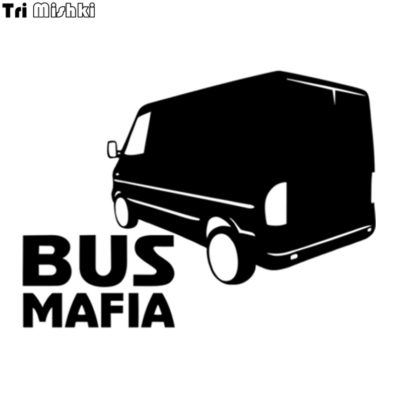 Tri Mishki HZX325# 15*20.5cm Bus Mafia For Mercedes Sprinter Car Sticker Auto Funny Car Stickers