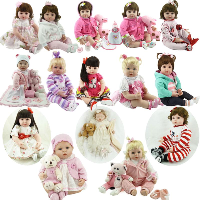 Kawaii Baby Doll 22inch Silicone Reborn Doll Toys 55cm Soft Body Baby Toys Newborn Lifelike Doll Toys Brinquedos Princess Doll