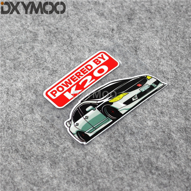 Car Styling Vinyl Bumper Motocross Truck Auto Bike Motorcycle Phone Bike Bumper Sticker for GK5 <font><b>Civic</b></font> Powered By <font><b>K20A</b></font> 12x8.5cm image