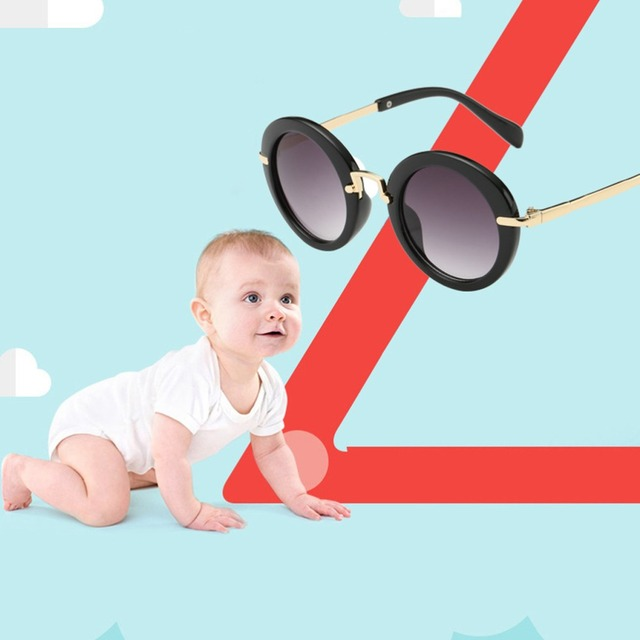 239f5003e24ec Children Sunglasses 2019 New Fashion Round Kids Sunglasses Boy Girl Goggles  Baby Travel Glasses 7 Colors Optional Uv400
