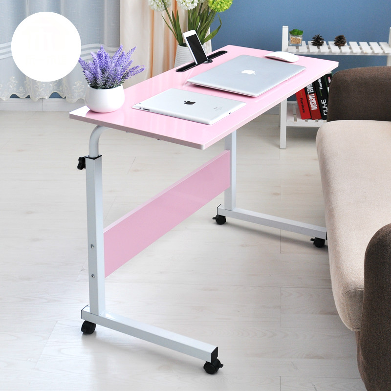 Simple notebook computer desk lazy bed table laptop desk with a slot  80*40cm 250616 computer desk and desk style modern simple desk with bookcase desk simple table solder edge e1 grade sheet material