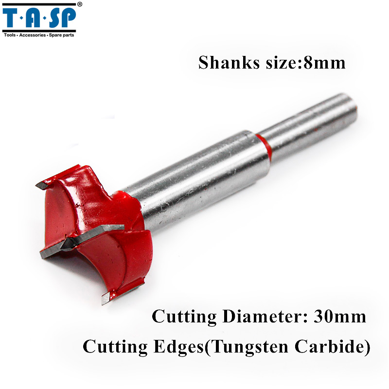 TASP 30mm Forstner Wood Drill Bit Tungsten Carbide Cutting Edges bosch 2608597205 wood drill 24x140x210 mm