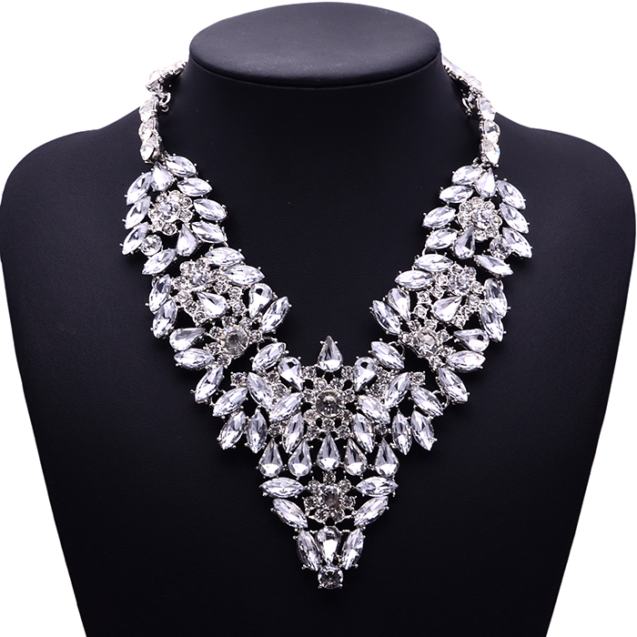 XG098 Ultra-luxury European and American Big Exaggration Bohemia Necklaces & Pendants Multi-layer Crystal Statement Necklace женская рубашка european and american big 1715